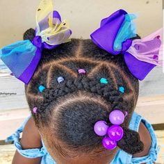 Cute Toddler Hairstyles, Black Kids Hairstyles, Cute Little Girl Hairstyles, Little Girl Braids, Girls Natural Hairstyles, Baby Girl Hairstyles, Kids Braided Hairstyles, African Braids Hairstyles, Braids For Kids
