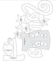 Artesanato e Cia : Papai Noel -Molde para aplicação