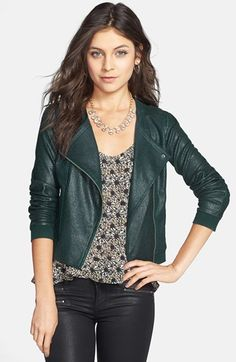 Frenchi® Coated Knit Moto Jacket (Juniors) available at #Nordstrom