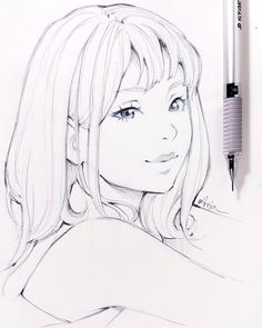 Smile+By+Ladowska.Com+On+ portraits en 2019 drawings, Anime Drawings Sketches, Anime Sketch, Disney Drawings, Cartoon Drawings, Cute Drawings, Cartoon Girl Drawing, Manga Drawing, Smile Drawing, Anime Kunst