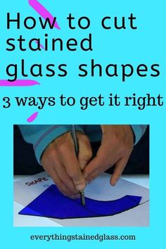 Gain stained glass confidence by learning 3 ways of cutting glass shapes out accurately. Find out about templates, tracing and freehand techniques. Stained Glass Studio, Making Stained Glass, Stained Glass Projects, Stained Glass Art, Stained Glass Windows, How To Do Stained Glass Diy, Mosaic Glass Art, Fused Glass, Mosaic Windows