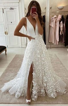 Cute Prom Dresses, Mermaid Dresses, Ball Dresses, Pretty Dresses, Bridal Dresses, Beautiful Dresses, Ball Gowns, Beautiful Dream, Boho Wedding Dress With Sleeves