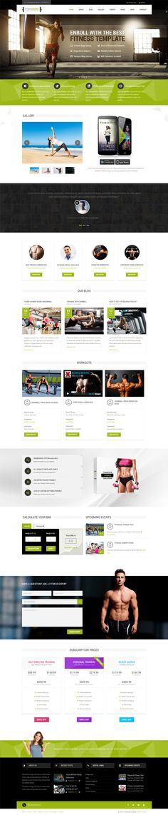Fitness Zone #Wordpress theme muscled for modern trend, gyms, #sport club or fitness centre and personal trainers! Fully responsive layout that looks great on mobile and tablet devices. With inbuilt drag and drop page builder you can make the website creation a whole lot easier. #health