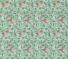 Morris Arbutus Thyme / Coral Wallpaper main image