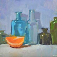 "Daily Paintworks - ""The Bachelorette"" - Original Fine Art for Sale - © Carol Marine"