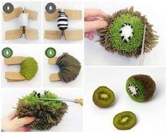 Diy Arts And Crafts, Crafts To Do, Yarn Crafts, Crafts For Kids, Preschool Crafts, Diy Laine, Ostern Party, Pom Pom Animals, Pom Pom Rug