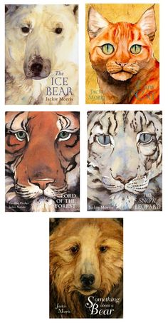 Some of Jackie Morris covers, including her forthcoming 'Something About a Bear'