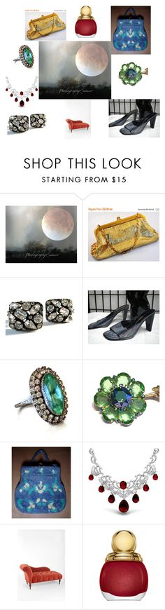 """""""EVENING GLAMOUR REFLECTING THE SUPER MOON"""" by blingblingfling on Polyvore featuring Whiting & Davis, Bling Jewelry, Urban Outfitters, Christian Dior and vintage"""
