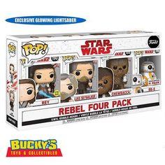 Star Wars Funko Pop Costco The Last Jedi Rebel Rey Luke Skywalker Chewbacca Gold Armor, Pop Toys, Computer Backpack, Last Jedi, Luke Skywalker, Chewbacca, Lightsaber, Costco, Ten