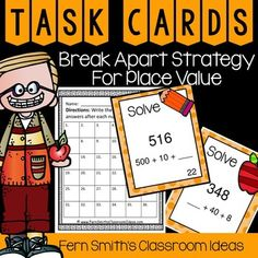 Grade Go Math Chapter 3 Lesson Rounding to Estimate Sums Task Cards from Fern Smith's Classroom Ideas Math Rotations, Math Centers, Numeracy, Third Grade Math, Fourth Grade, Second Grade, Grade 3, Addition Activities, Math Activities