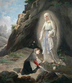 Domenico Tojetti - At Sacred Spring. NUESTRA SEÑORA DE LOURDES Año: 1858 Lugar: Lourdes (Francia) Fiesta: 11 de febrero Vidente: Bernadette Soubirous