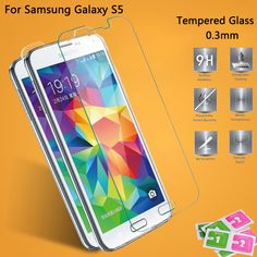 5 pcs 0.3mm ultra-thin high-grade tempered glass For Samsung Galaxy S5 S6 HD tempered glass screen protection before the film