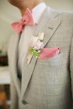Pink pastel accents - groom attire - Anna Kim Photography - Style Me Pretty Beige Suits Wedding, Tan Wedding, Wedding Attire, Elegant Wedding, Dream Wedding, Wedding Dreams, Wedding Things, Wedding Stuff, Groom Attire