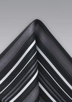Einstecktuch Streifenmuster Grau