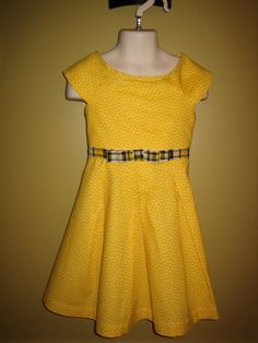 Yellow and Black 3T Bumble Bee Girls Dress by WitasCreations on Etsy