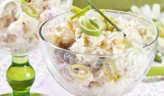 Ľahký a svieži: Zelerovo-ananásový šalát s vajcom | DobreJedlo.sk Vegetable Side Dishes, Potato Salad, Salads, Potatoes, Vegetables, Health, Ethnic Recipes, Food, Health Care