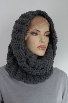 Sale 20% OFF Crochet Chunky Circle Cowl Scarf for by levintovich
