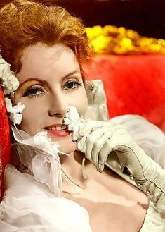 Greta Garbo, great, color photo of her
