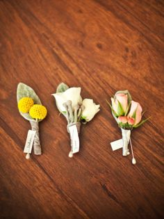 Consider non-traditional blooms for boutonnieres