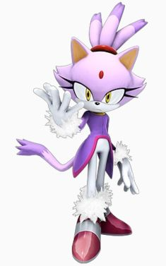 Blaze the Cat... her character's grown on me ever since I played Sonic '06 (which I liked, actually)  <--- She has some cool clothes!