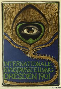 Albert Klingner Poster for an exhibition of international art held in Dresden in 1901.