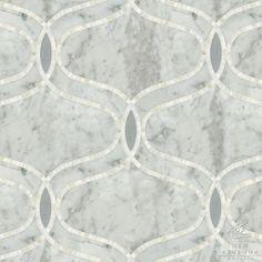 "Name: Ursula Style: Classic Product Number: NRJFURSULA Description: 24""x 24"" Ursula in Carrara, Bardiglio (h), Calacatta Tia (p)"