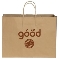 Kraft Paper Shopper Bag (08312-01) Retail Bags, Custom Gift Bags, Shopper Bag, Goodie Bags, Kraft Paper, Medium Bags, Paper Shopping Bag, Screen Printing, Gifts