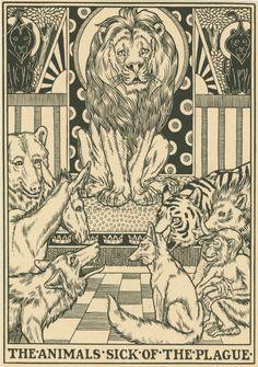 Percy J. Billinghurst, (Artist) ~ The animals sick of the Plague.