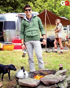Miles Fisher Models for GQ Camping Style November 2011