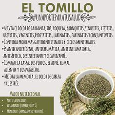 El Tomillo: invaluable. Propiedades... #EnTransiciónProVida #ETPV #VidaSana #ReformaProSalud www.facebook.com/EnTransiciónProVida
