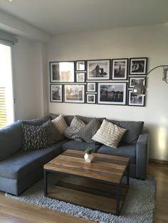 Mesa ratona de Peteribí Estilo Minimalista Nórdico industrial Quadrat Nordic Style, Ideas Para, Sweet Home, Mid Century, Loft, Couch, Living Room, Furniture, Home Decor