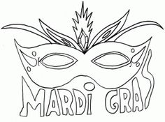 mask mardi gras coloring pages for kids mardi gras coloring