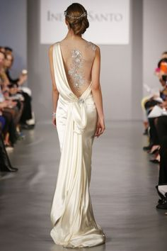 Ines-DiSanto Spring 2014 Sexy Back Wedding Gown Top Wedding Dresses, Wedding Dress Accessories, Wedding Dress Trends, Wedding Gowns, Wedding Dressses, Backless Wedding, Backless Gown, Wedding Mandap, Wedding Stage