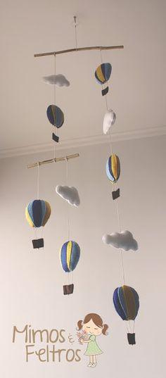 Móbile de Balões - Mimos e Feltros