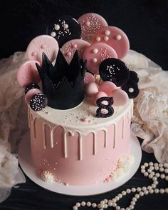 79 Amazing cake inspiration for special celebration - pretty birthday cake ideas. 79 Amazing cake inspiration for special celebration – pretty birthday cake ideas, celebration cak Beautiful Birthday Cakes, Beautiful Cakes, Amazing Cakes, Cute Cakes, Pretty Cakes, Fireworks Cake, 18th Birthday Cake, Birthday Cake Designs, Drip Cakes