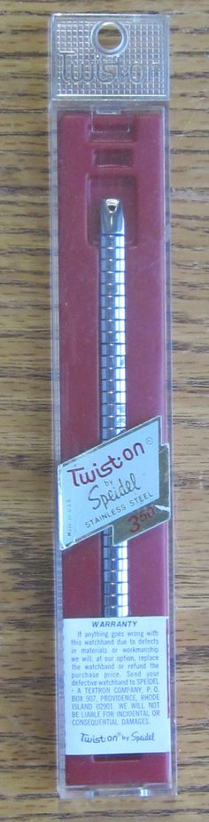 Vintage Speidel Ladies Twist On Watch Band Still by LeftoverStuff, $10.00