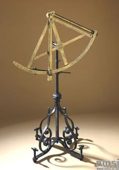 Astronomical optical quadrant with stand. Made by Michael Butterfield c.1685-1724 in Paris, France. Iron; brass.