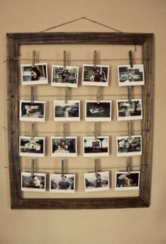 Leuke manier om foto's op te hangen