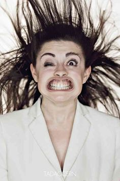 """From Tadao Cern's """"Blow Job"""" series. No one is cute in a wind tunnel. No one."""