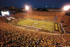 Mizzou fans sold out Memorial Stadium for the Tigers' inaugural game against Georgia Sept. Description from mizzoumag.missouri.edu. I searched for this on bing.com/images
