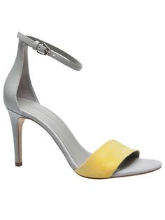 Carmen sandal in ochre and grey from Alexander Wang