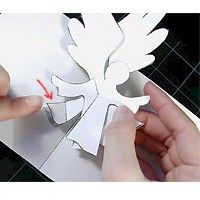 This Pop Up Angel Card pops up to wish it& recipient a Blessed Christmas or can be used any time of year to spread good cheer. Holiday Cards, Christmas Cards, Origami, Advent, Angel Cards, Good Cheer, Christmas Nativity, Card Templates, Pop Up