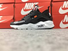 big sale 20c2e 823c1 Customized Nike Huarache x Off White Shoe Black   Etsy Off White Shoes, Black  Shoes