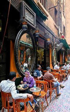 El Fishawy coffee shop, Cairo, Egypt - Explore the World, one Country at a… Luxor, Places Around The World, Oh The Places You'll Go, Places To Travel, Beautiful World, Beautiful Places, Amazing Places, Naher Osten, Ancient Egypt