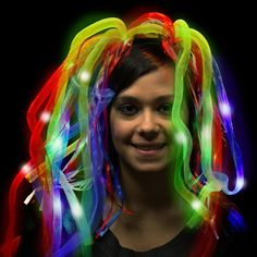 Perfect for pride parades, Mardi Gras and so much more, this rainbow LED… Wholesale Promotional Products, Light Up Costumes, Event Branding, Pride Parade, Blue Ribbon, Gay Pride, Dreads, Party Supplies, Diva
