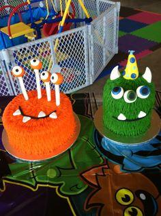 Wyatt's 1st Birthday   Monster Bash Cakes.  So CUTE!