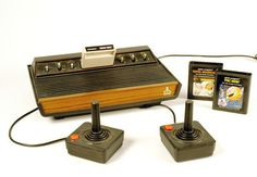 Atari: brings back memories of our Dad being so angry at Pac Man, he broke not one, not two, but THREE joysticks on our Atari.  Oh, the 80s:)