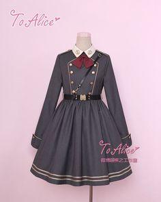 Tomy Bear -Joshua- Military Lolita OP Dress - July 06 2019 at Kawaii Fashion, Lolita Fashion, Cute Fashion, Fashion Outfits, Cheap Fashion, Fashion Clothes, Pretty Outfits, Beautiful Outfits, Cute Outfits
