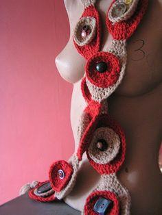 circle button scarf