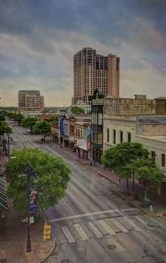Early Sunday morning on 6th Street- downtown Austin, Texas
